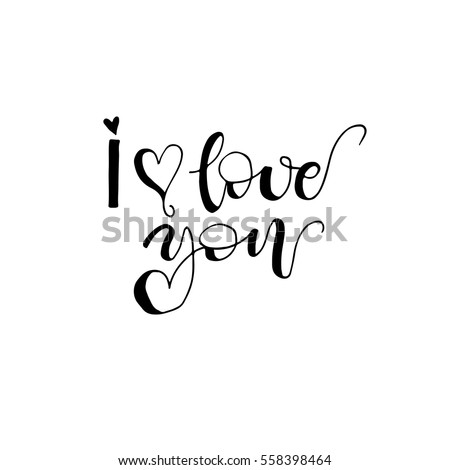 Vitalino11 39 s portfolio on shutterstock I love you calligraphy