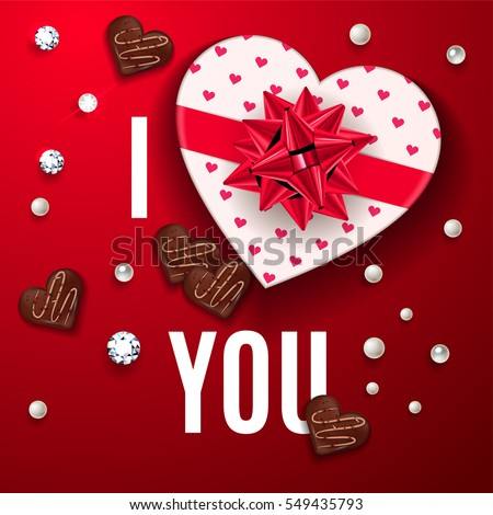 love you red greeting card happy ベクター画像素材 549435793
