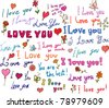 I love you! set - stock photo