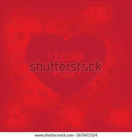 I love you Valentine card vector - stock vector