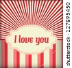 I Love You - Valentines Design Template - stock vector