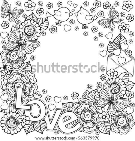 vector abstract coloring book for adult design for wedding invitations and - Abstract Coloring Books