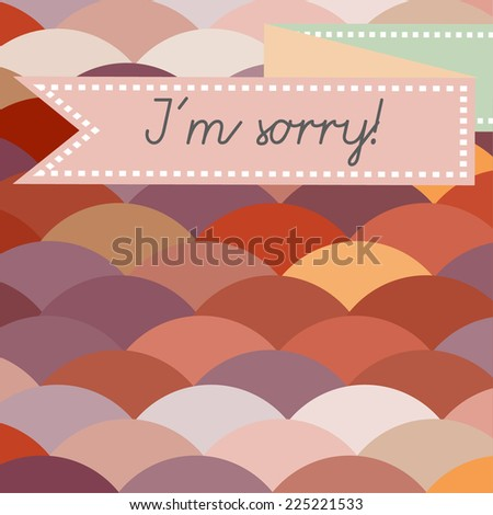 I'm sorry abstract card
