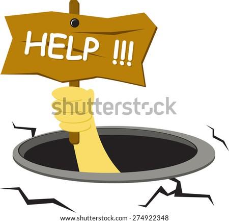 I need help - stock vector