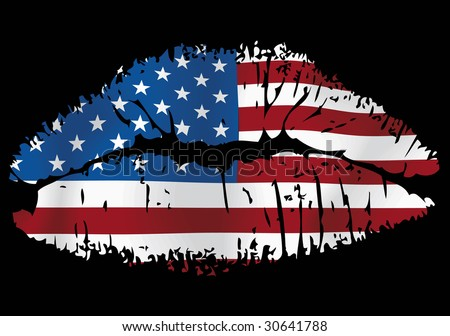 I very much love the USA - stock vector