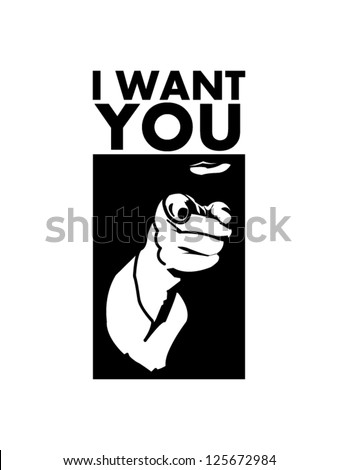 I want you concept - stock vector