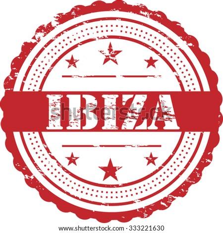 Ibiza Destination City Grunge Stamp Symbol - stock vector