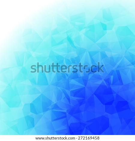 Ice Colors Abstract Geometric Shapes Design. Blurred and Low Poly Style Background Template - stock vector