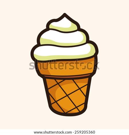 ice cream cartoon theme elements - stock vector