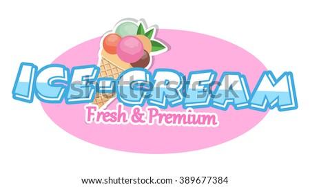Ice cream. Design Elements.Vector Illustration - stock vector