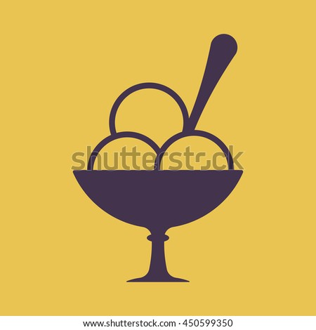 Ice cream Icon - stock vector