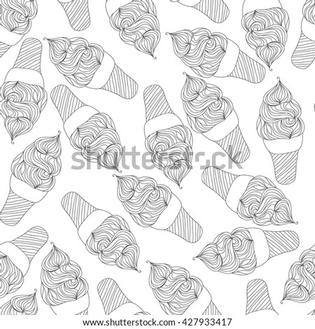 Ice cream pattern. Seamless