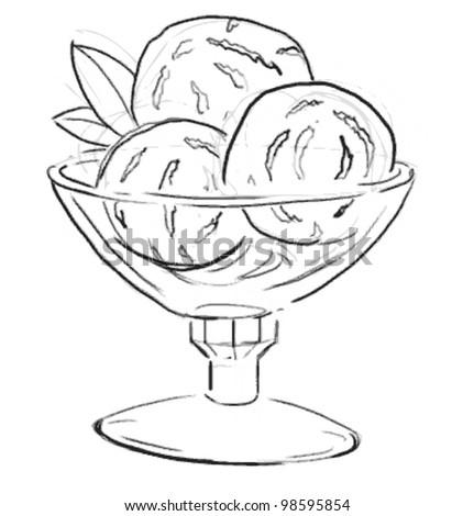 Engraving Image Dessert Vector Illustration Vintage Stock ...