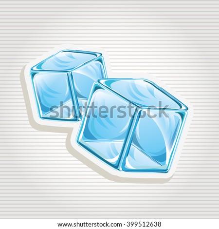 ice cubes design  - stock vector