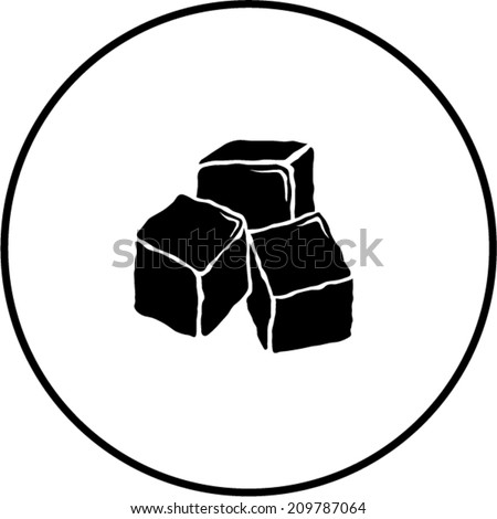 ice cubes symbol - stock vector