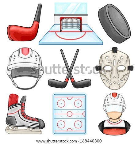 Ice Hockey Icon - Sport - Illustration - stock vector