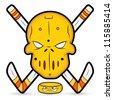 Ice Hockey Vector Mascot - stock vector