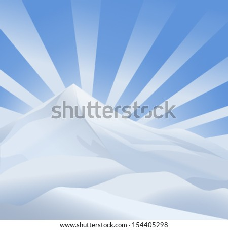 ice mountain - stock vector
