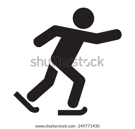 Ice skating icon - stock vector