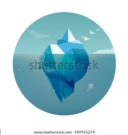 Iceberg Concept - stock vector