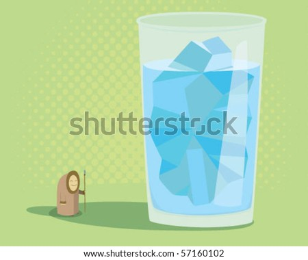 iceberg in a glass. - stock vector