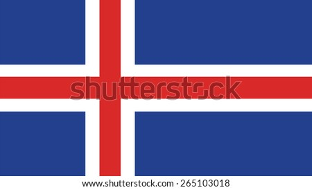 Iceland Flag for Independence Day and infographic Vector illustration. - stock vector