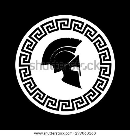 icon a Spartan helmet  - stock vector