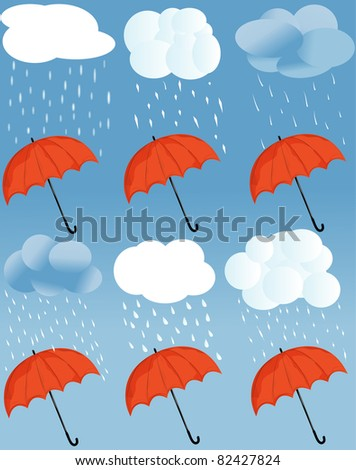 icon a weather and umbrella