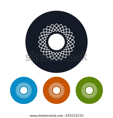 Icon abstract sun ,  the four types of colorful round icons sun ,  vector illustration - stock vector