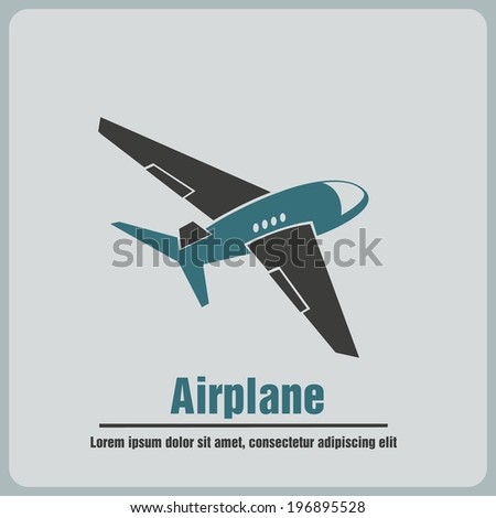 icon airplane - stock vector