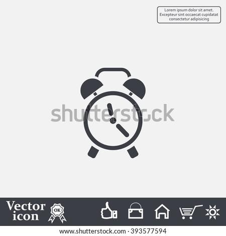 icon alarm - stock vector
