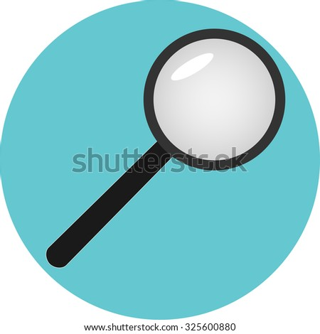Icon analysis of search analytic. Optimization business, research analyze, magnifying glass, vector art design abstract unusual fashion illustration - stock vector