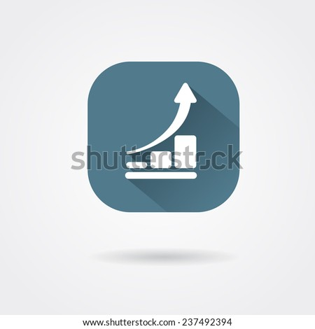 icon analyst progress - stock vector
