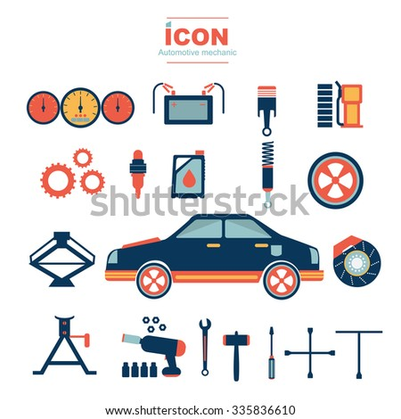 icon automotive mechanic vector design No 2