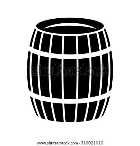 icon barrel cask keg - stock vector