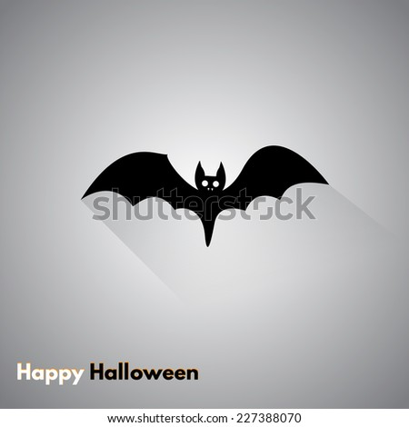 Icon bat. Halloween holiday. Made in vector - stock vector