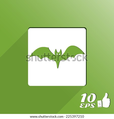 Icon bat. Happy Halloween holiday. Made in vector - stock vector
