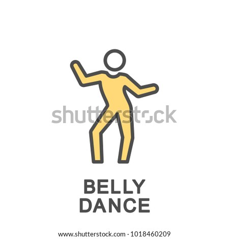 Icon Belly Dance Exercises Burning Fat Stock Vector 1018460209