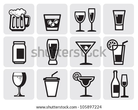 icon beverage - stock vector
