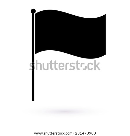Icon black flag. Vector  - stock vector