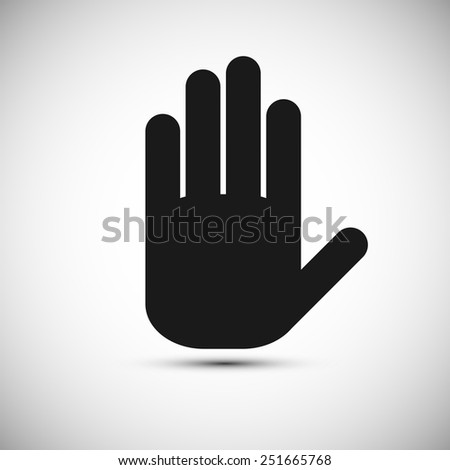 Icon black hand on a white background eps10 - stock vector