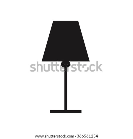 Icon , black silhouette table lamp