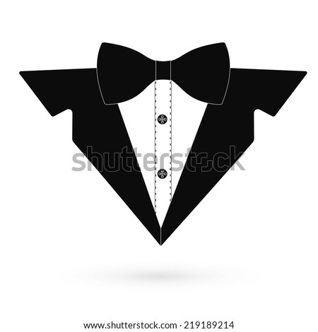 Icon black tuxedo. Vector. - stock vector