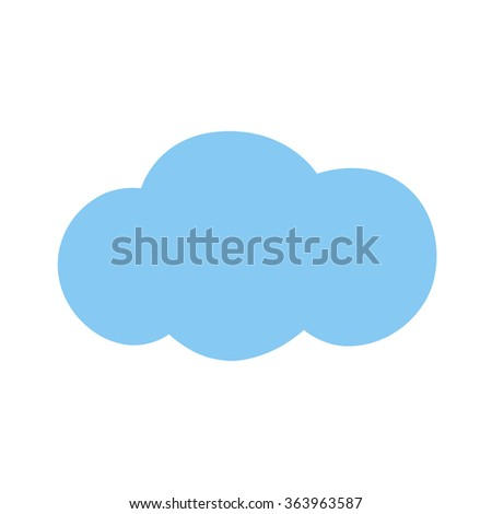 Icon blue cloud. Vector illustration.