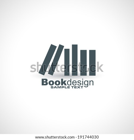 icon books concept design in vector format - stock vector