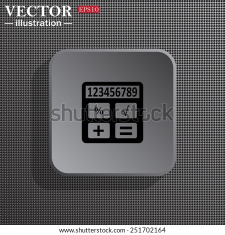 icon calculator, vector illustration, EPS 10 - stock vector