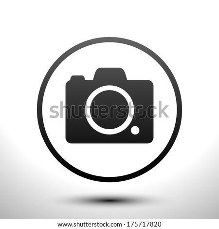 Icon camera - stock vector