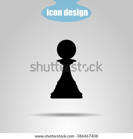 Icon  chess piece. Pawn - stock vector