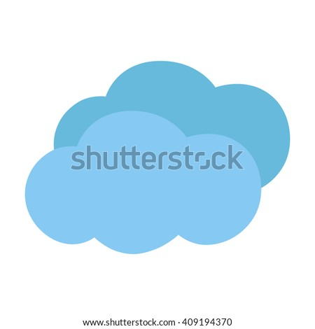Icon clouds. Vector illustration.
