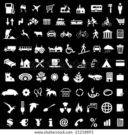 Icon collection for various designs - stock vector
